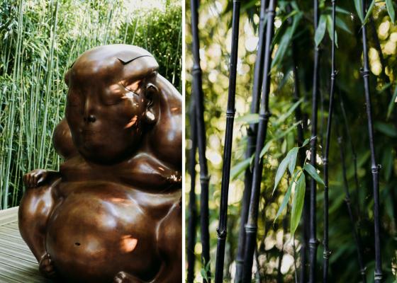 Скульптура «Медитация» была установлена в Нормандии в садах Этрета.