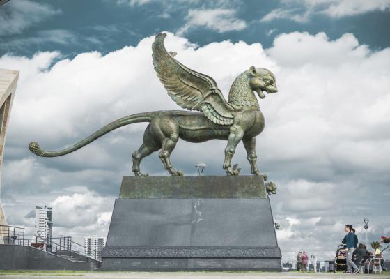 Открытие монументальных скульптур у подножия «Казана»
