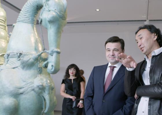 Открытие выставки Даши Намдакова в комплексе «Новый Иерусалим».