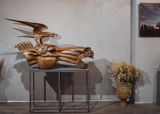 Открытие юбилейной выставки Даши в Москве в Галерее Jart