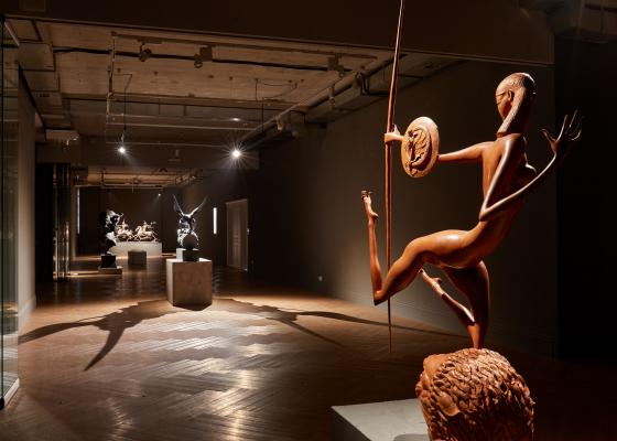 Обновление экспозиции Даши Намдакова в галерее Виктора Бронштейна. Иркутск